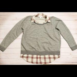 Motherhood Maternity gray sweatshirt size small